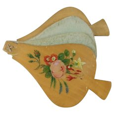 Sweet Novelty Spa Work Needle Book, Bellows Shaped with Floral Painted Boards