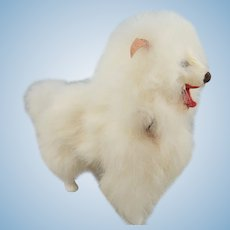 Vintage Fur Spitz Dog, 5 ½ Inches, A Great Fashion Doll Accessory