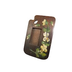 Hand Painted 19th Century Miniature Spa Ware Wooden Picture Frame