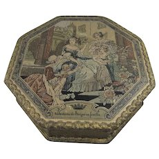 Vintage Octagonal French Madame de Sevigné Candy/Chocolate Box, 6 Inches