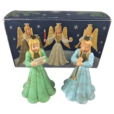 Vintage Circa 1950s Christmas Angel Decorations in Original Box