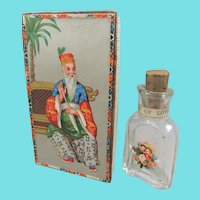 Tiny Victorian Glass Love Potion Bottle, 2 inches, Complete with Original Box