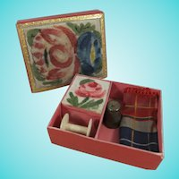 Child's French Theorem Sewing Box, Circa 1830