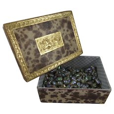 Decorative 19th Century Box Filled With Tiny Shells