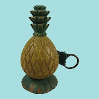 Vintage Novelty Tape Measure Carved & Painted As A Pineapple