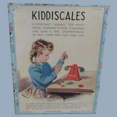 Vintage Kiddiscales 'Sensible' Learning To Add Toy, Unused Condition