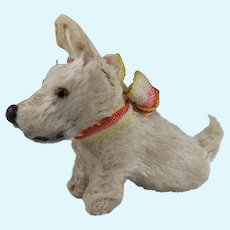 Adorable Miniature Vintage White Terrier, 2 ½ Inches Long