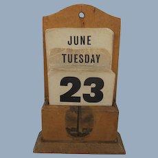 19th Century Mauchline Ware Bunker Hill Monument Perpetual Calendar