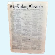 Doll-Sized Newspaper The Woking Observer 1897
