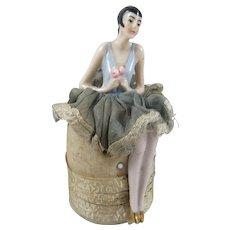 Deco Pin Cushion Doll & Cushion, 4 Inches High