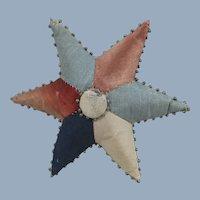Pretty 19th Century Patchwork Star-Shaped Pin Cushion