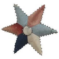 Pretty 19th Century Patchwork Star-Shaped Pin Cushion