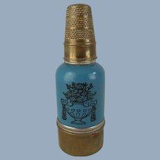 Charming Vintage Etui – Thimble, Mirror, Powder Puff, Needle & Threads