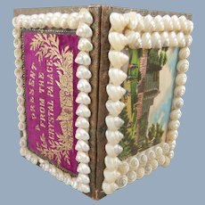 Fabulous 'A Present From The Crystal Palace' Shell Work Needle Book, 1850s