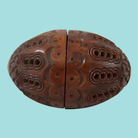 Beautiful 19th Century Coquilla Nut Sewing Egg, 3 Inches Long