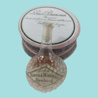 Antique Miniature Glass Bottle + Pretty French Pharmacy Box