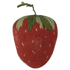 Sweet Strawberry Pin Cushion, 2 Inches Long