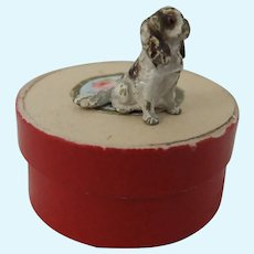 Adorable Cold Painted Bronze Spaniel, Just Over ½ An Inch High