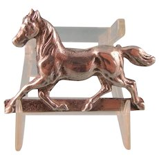 Antique Horse Pin Brooch in Sterling Silver