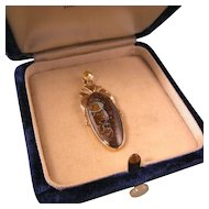Antique Boulder Opal Pendant, 14k Gold