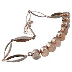 Art Deco Moonstone Bracelet, Sterling Silver