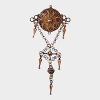 Antique Marius Hammer Brooch, 830 Silver, Incomplete