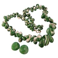Art Deco Artfully Designed Bead Necklace
