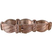 """Theodor Fahrner Bracelet, Buckle and Strap Motif, Silver with Marcasites, Small, 6-1/4"""""""