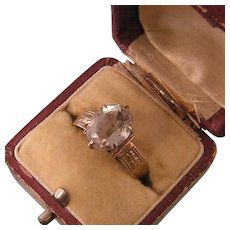 Antique Victorian Pale Amethyst Ring, 10k Rosy Gold, Size 9.25