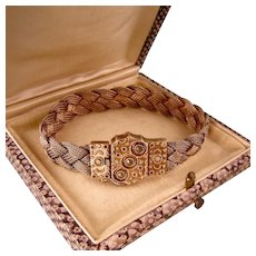 Edwardian Woven Mesh Bracelet with Ornate Clasp