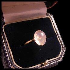 Antique British 18ct Gold Moonstone Ring