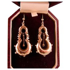 Victorian GF Earrings with Beading and Dangles, 2-1/4""