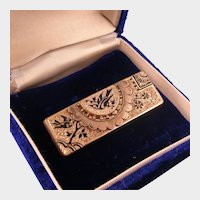 Victorian Taille D'epargne Ornate Pin, Rose Gold Fill