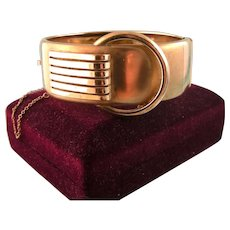 Art Deco Hinged Bangle Bracelet, Rodi and Wienenberger, Germany