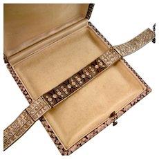 Art Deco Enamel and Gleaming Paste Bracelet, Pristine, Original Box