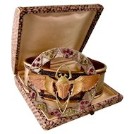 Egyptian Winged Scarab Bracelet, Large and Ornate