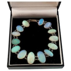 Edwardian Era Natural Opal Bracelet in Silver