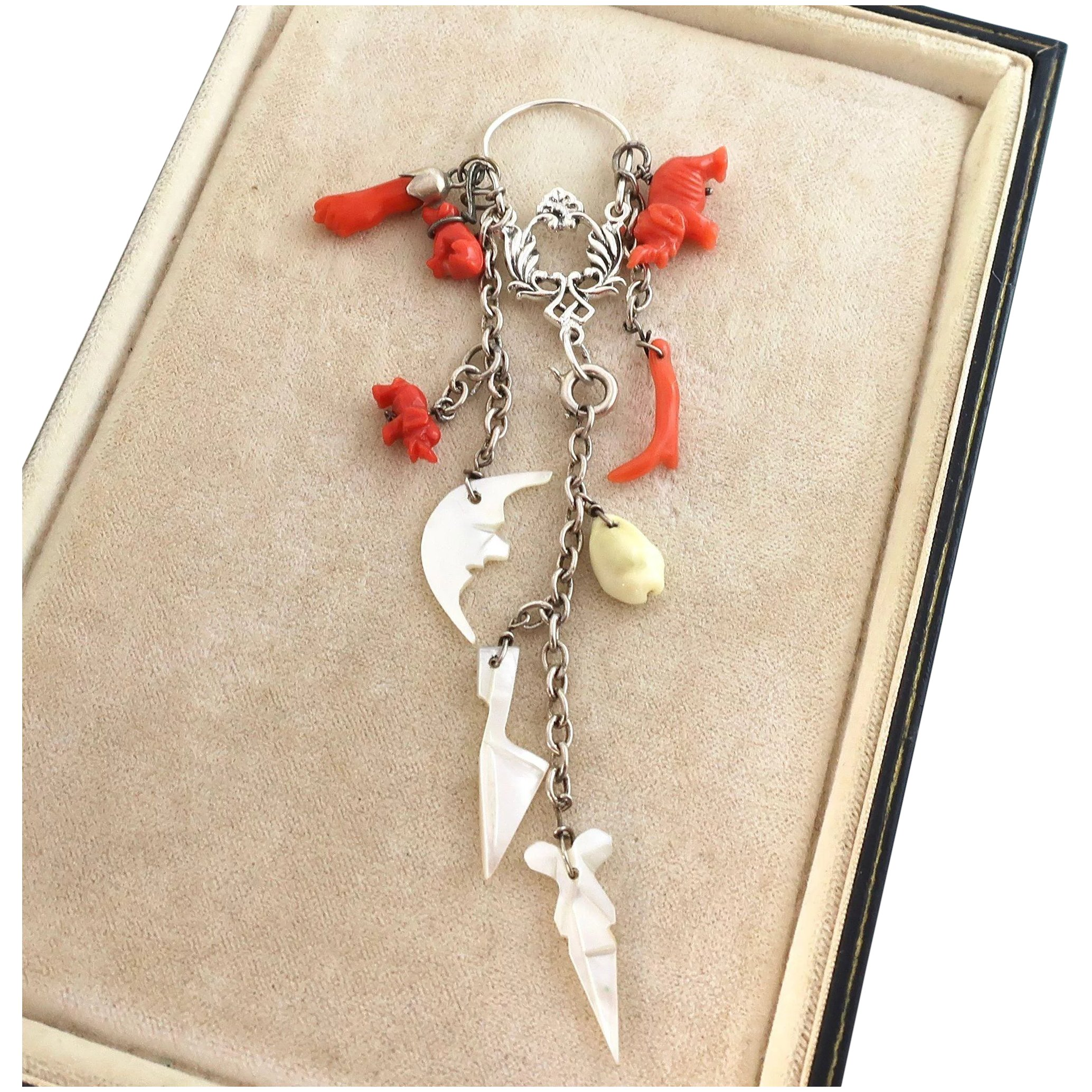 C And Mother Of Pearl Charms Figa