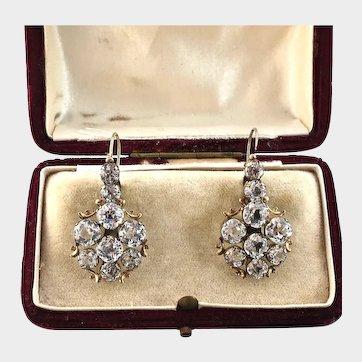 "Antique ""White Barrios Diamonds"" Earrings"