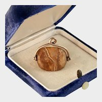 Victorian Agate Fob, 9ct Gold