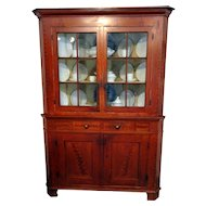 19th C. PA Corner Cupboard in Original Paint Decoration