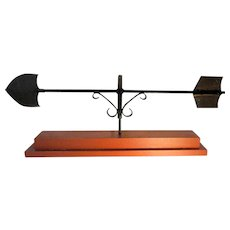 1920's Wrought Iron and Brass Arrow Weathervane