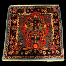 Fine Semi-Antique Oriental Prayer Rug with Flower Urn
