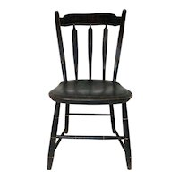 19th C. Child's Arrowback Windsor Chair w/ Original Paint Decoration.