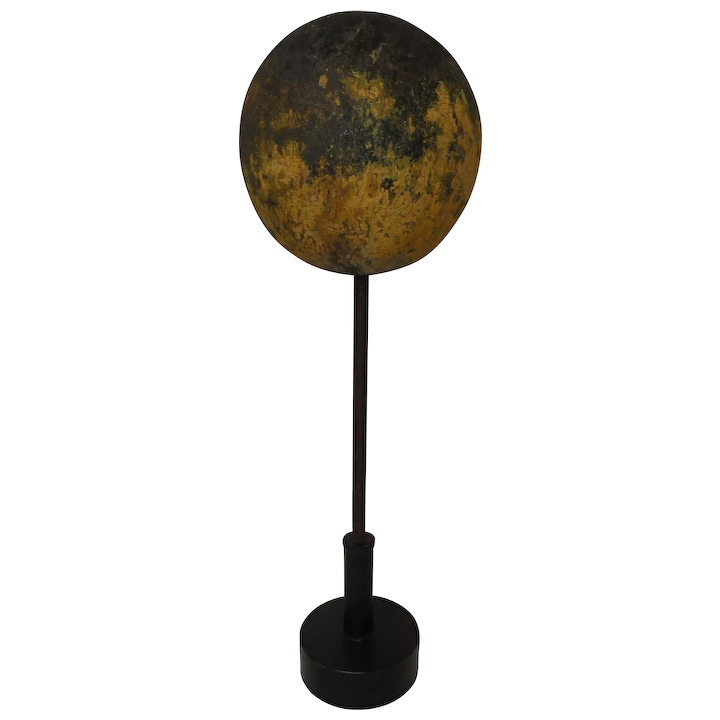19th C  Wooden Flagpole or Weathervane Topper in Old Paint