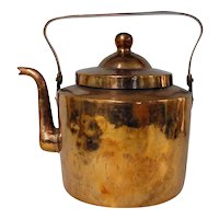 Large 19th C. Dovetailed Copper Tea Kettle