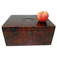 Fine Early 19th C. Paint Decorated Document Box