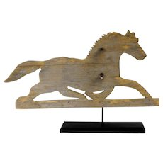 Late 19th C. Lancaster County Wooden Horse Weathervane