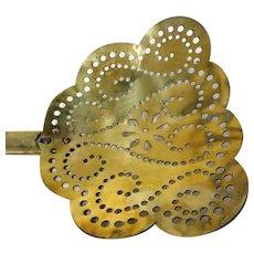 19th C. Fancy Brass Skimmer