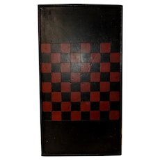 Vibrant 19th C. Gameboard with Original Paint